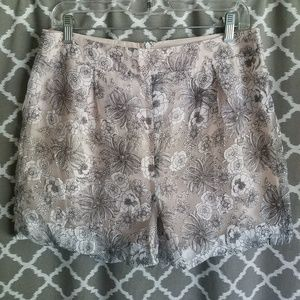 🌞Ark & Co Floral Lace High Waisted Shorts Sz L